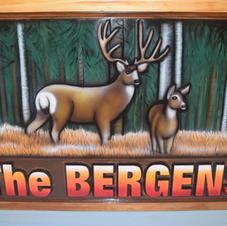 Personalized Cedar yard Sign
