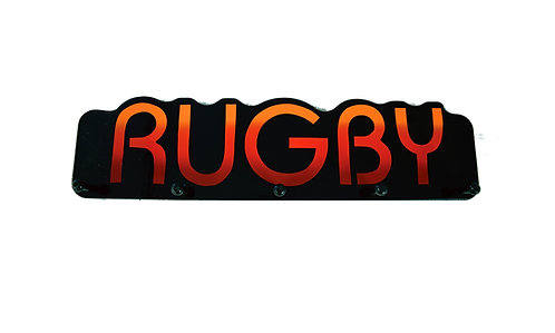 Rugby Word Plaque