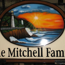 Commercial Wood hand painted sign