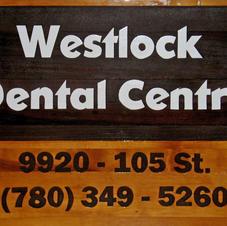Cedar Sign Westlock Dental Centre