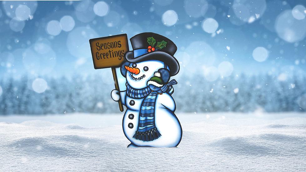 Message Bluebird Snowman