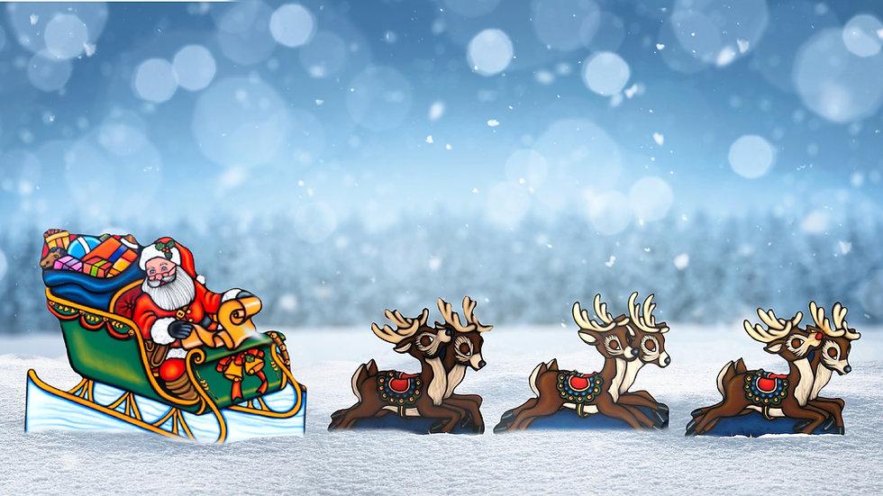 Sleigh and Reindeer