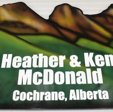 Hand painted airbrushed yard sign