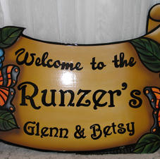 Lakelot Sign Hand painted