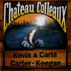 Cedar Custom Yard SignChateau Colleaux.j