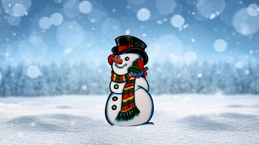 Bluebird Snowman