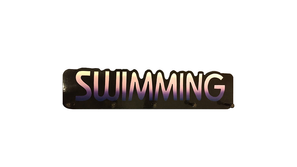 Swimming Word Plaque