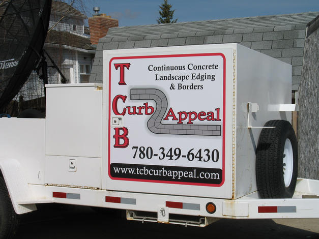 Trailer adhesive commercial sign print