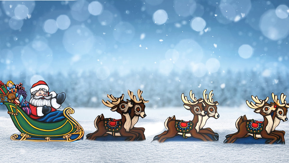 Sleigh and Reindeer