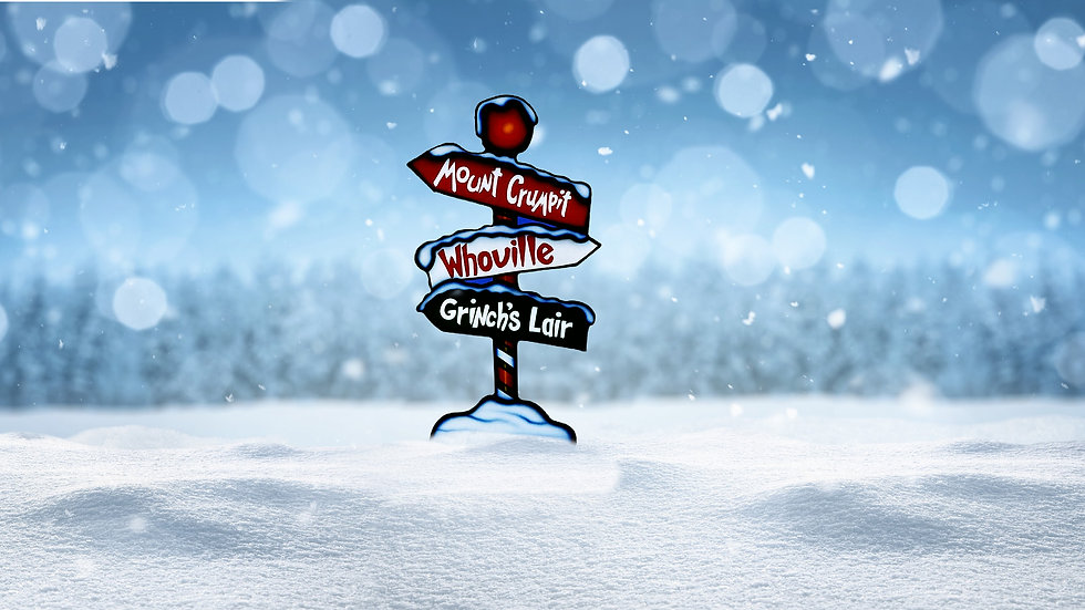 Grinch Sign Post