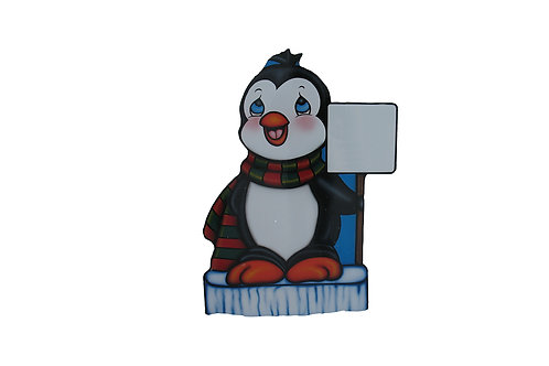 Scarf Penguin with Sign
