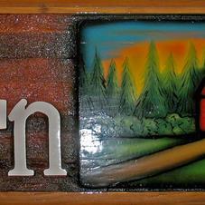 Cedar Yard Sign The Barn