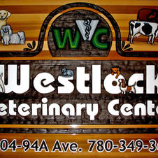 Cedar Sign Westlock Vet