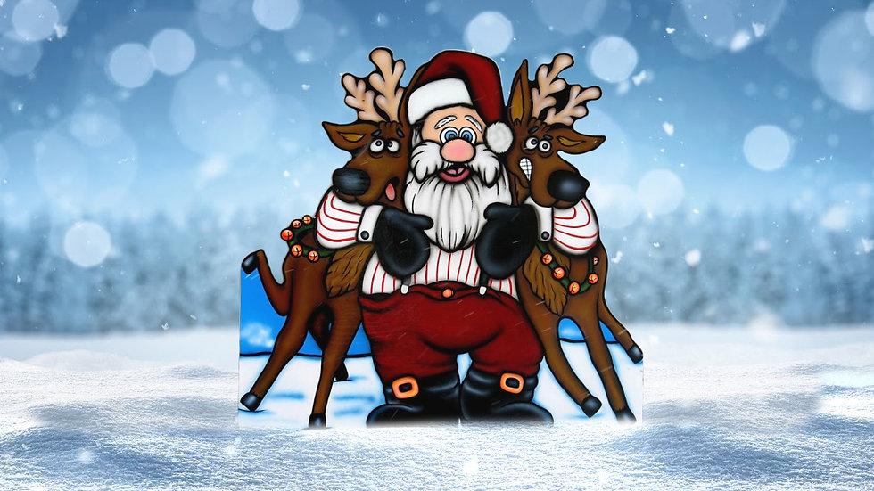 Santa Hugging