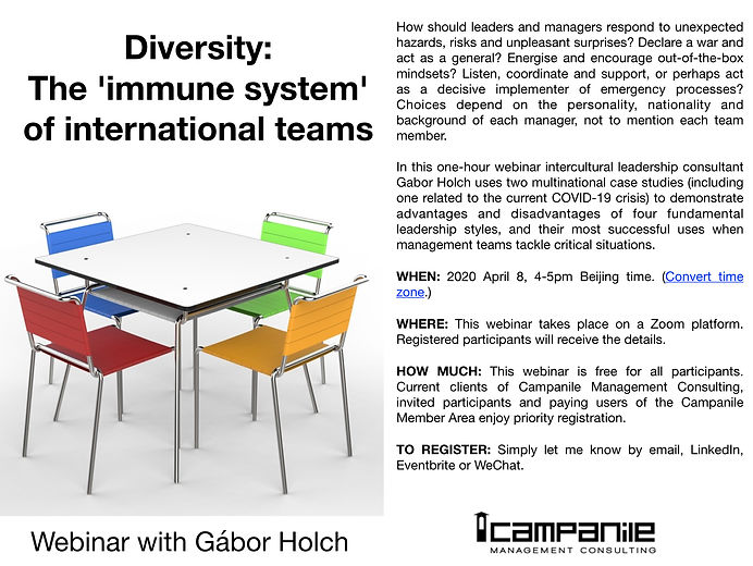 Gabor Holch webinar Diversity:  The immu