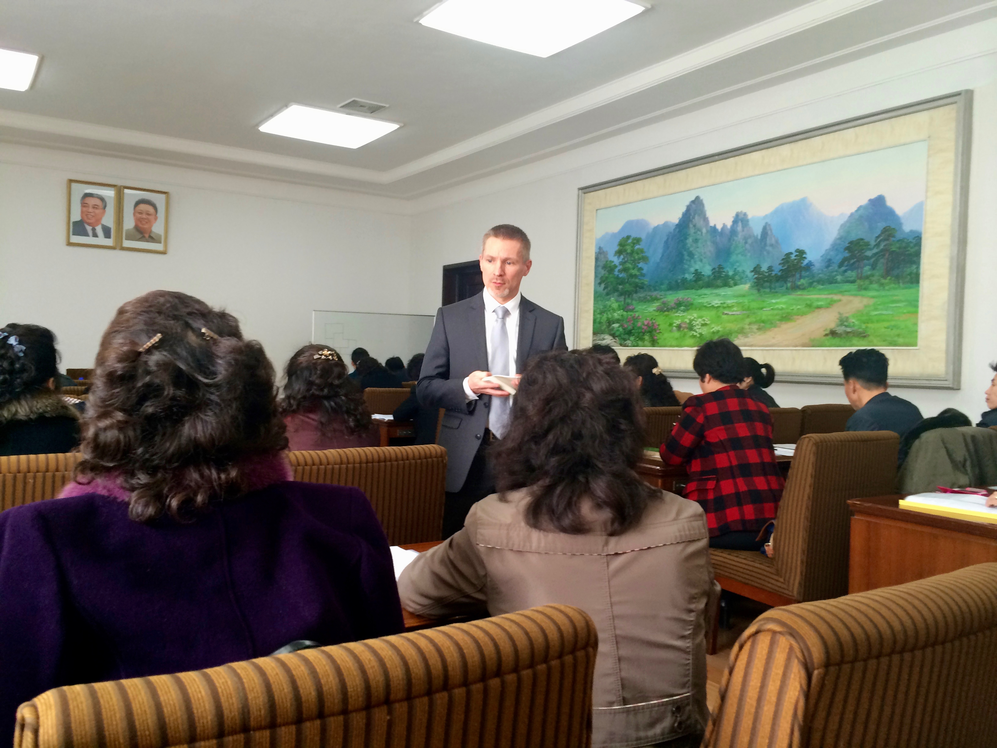 Intercultural Leadership training PyongYang (Gabor Holch)