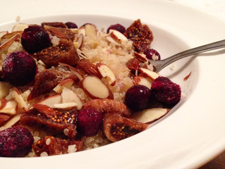 Recipe: Blueberry Fig Breakfast Quinoa