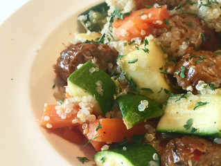 Recipe: Quinoa Primavera with Sausage