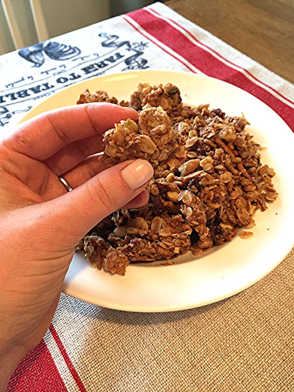 homemade granola, food, nutrition, blog
