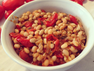 Recipe: White Beans + Tomatoes