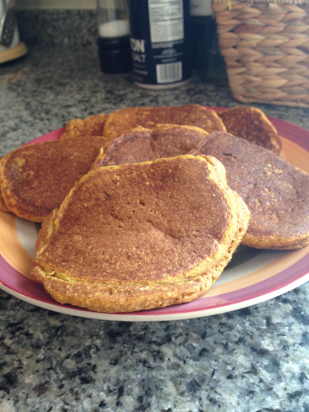 pumpkin pancakes, healthy, sweet potato, recipe