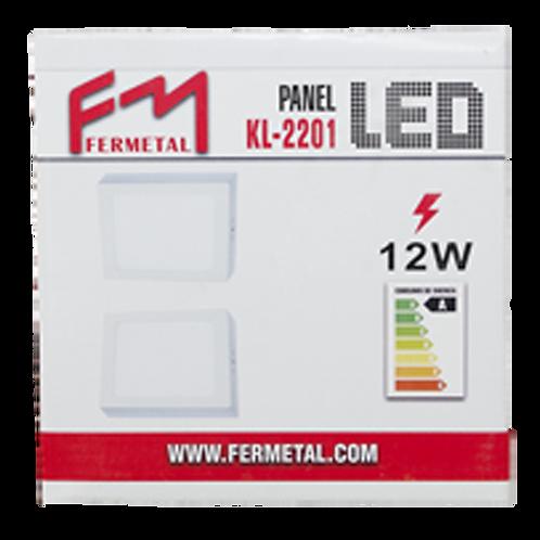 Lampara Led Cuadrada S/P 12W 6500K Fermetal