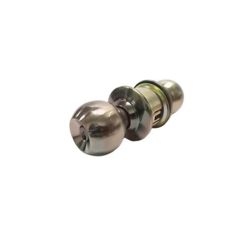 Cerradura Cilíndrica para Alcoba con Pomo Metálico de Acabado de Bronce Antiguo