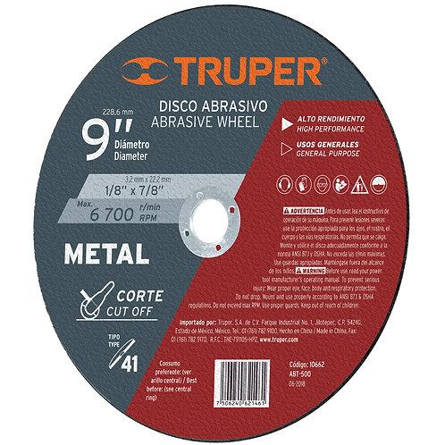 """Disco para Corte de Metal, Tipo 41, Diámetro 9"""""""