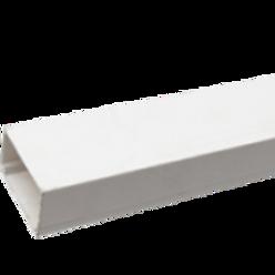 Canaleta Blanca 70x40 2 MTS sin Adhesivo Fermetal