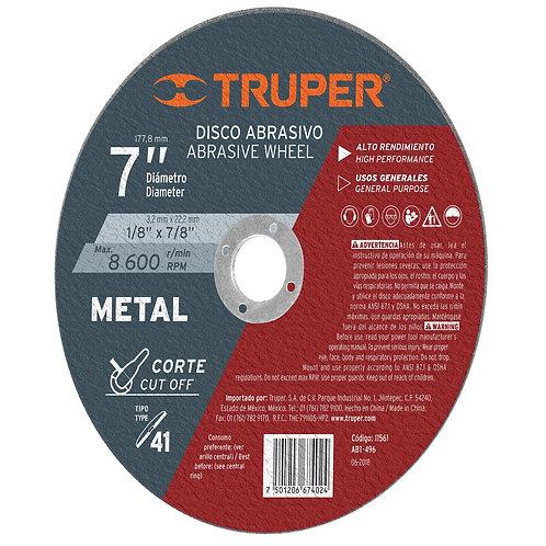 """Disco para Corte de Metal, Tipo 41, Diámetro 7"""""""