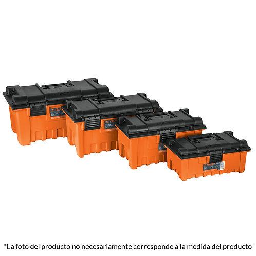 "Caja Herramienta Plástica Naranja 16"" Truper"