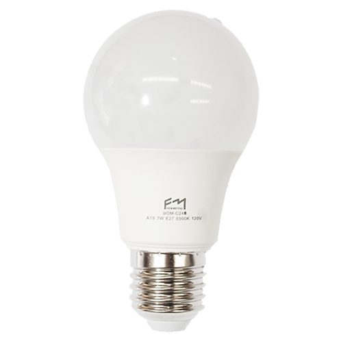 Bombillo LED A19 Pera  E27 12W 120V 6500K Fermetal