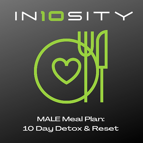 MALE 10 Day Detox & Body Reset Meal Plan