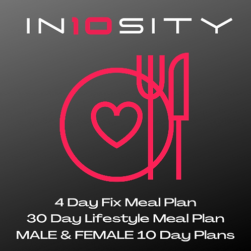 4, 10, 10 & 30 Day Meal Plans