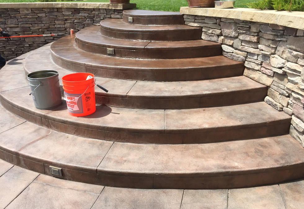 Sealed Stamped Concrete
