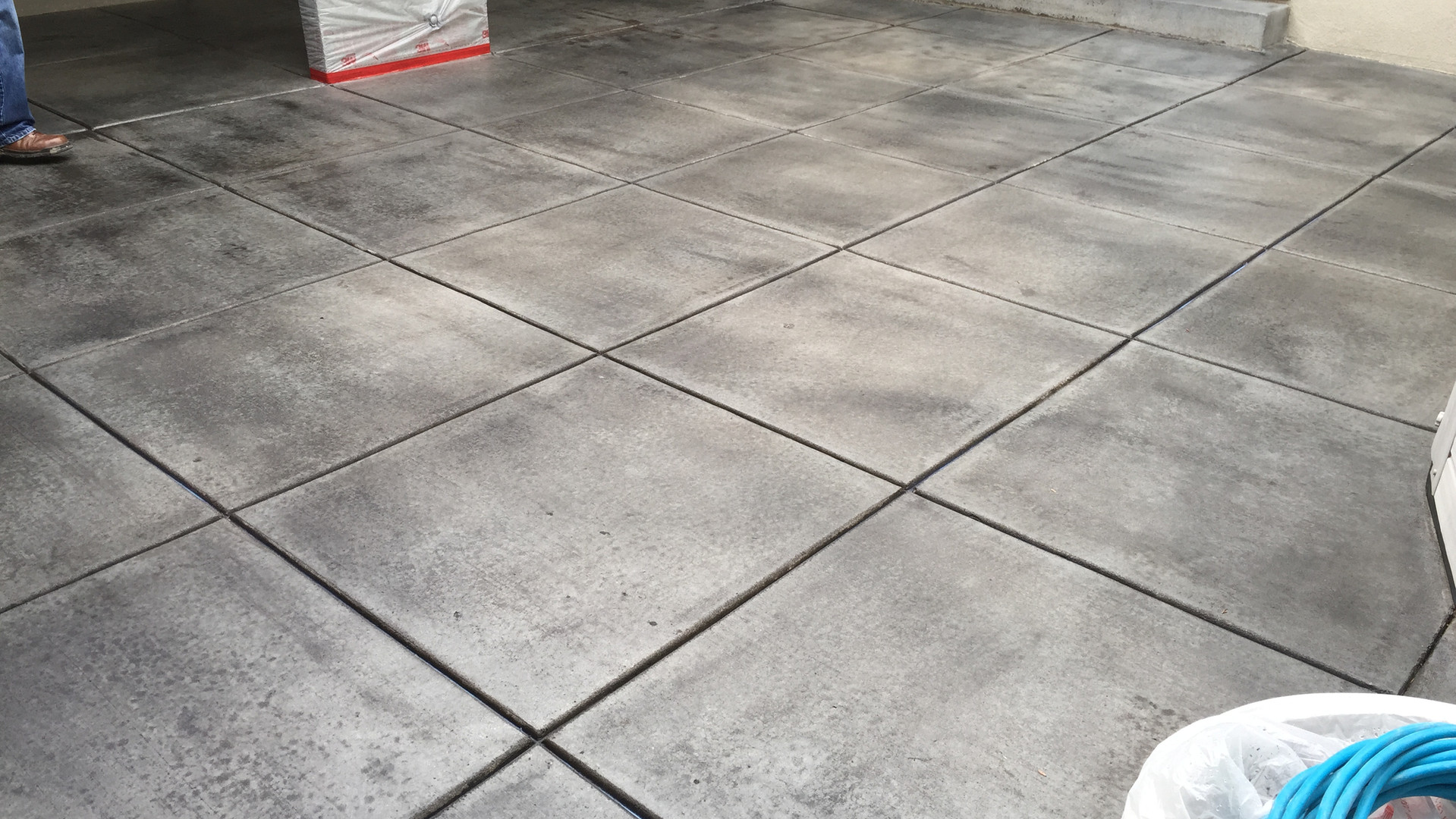 Patio Grind Stain & Seal