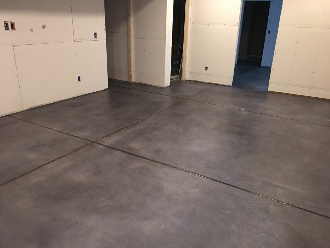 Basement Stain and Seal- After