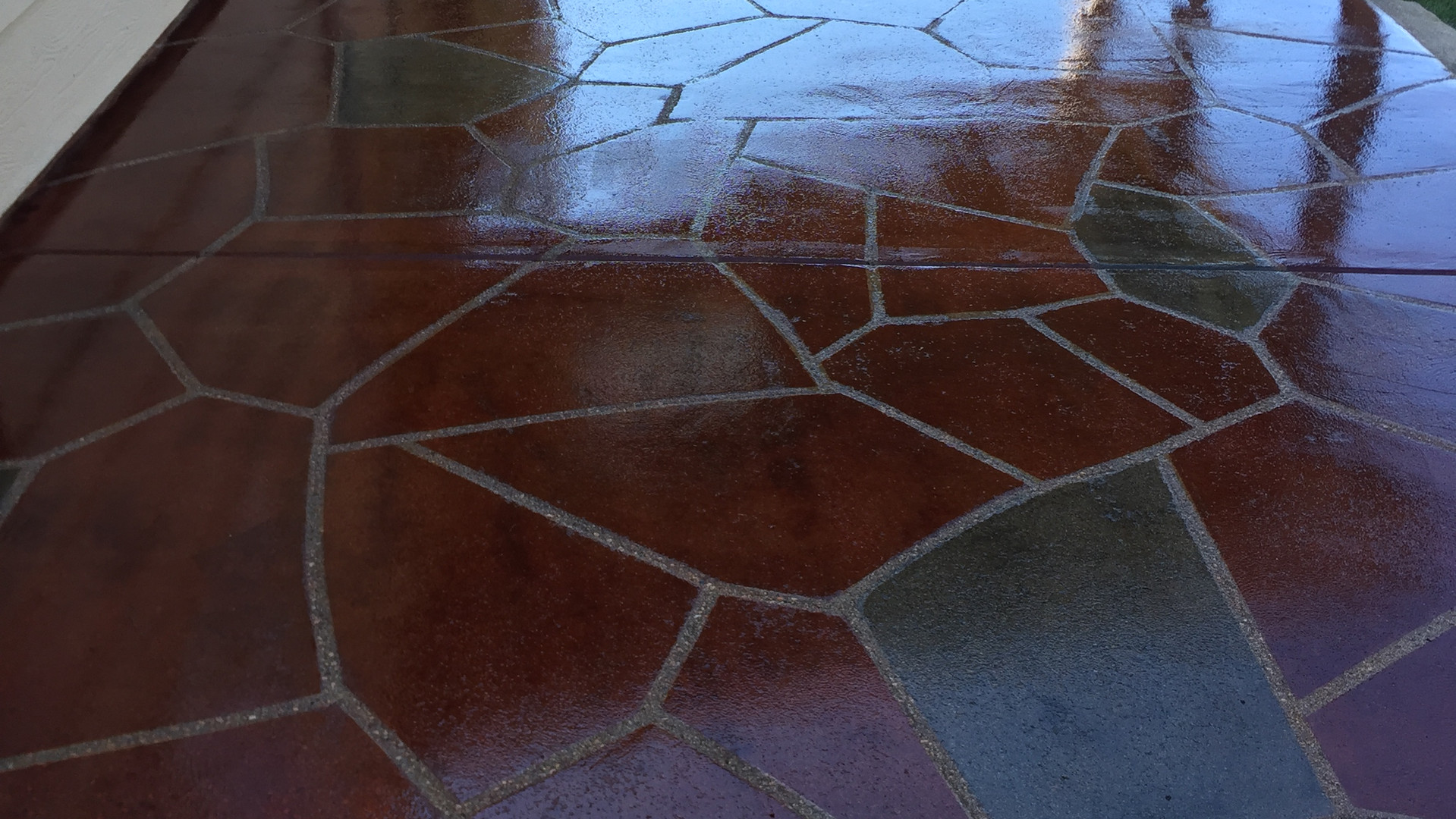 Patio Stain & Seal w/ Terra Cotta