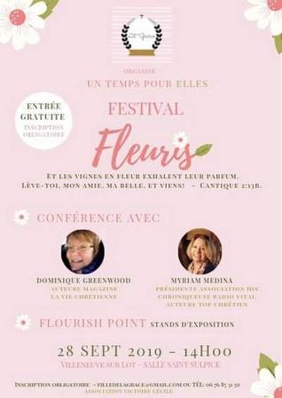"""Exposition """"Hymne à la vie"""" au """"Festival Fleuris"""""""