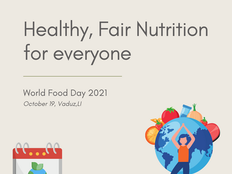 HEALTHY, FAIR NUTRITION FOR EVERYONE  (World Food Day 2021)