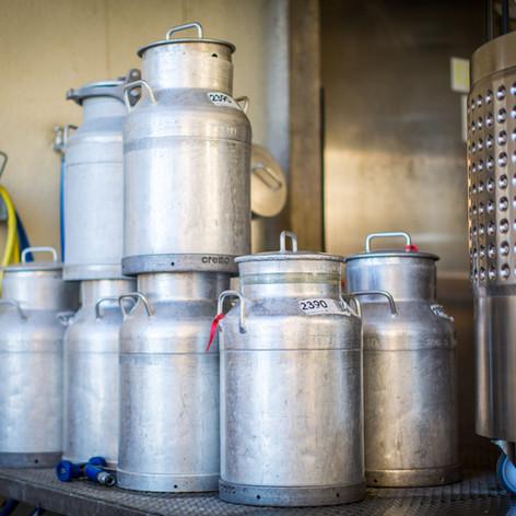 Fromagerie La Praz - boilles de lait