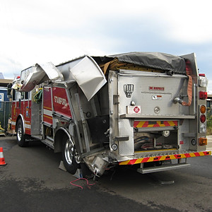 HME Pumper Rescue Hit By Tractor Trailer