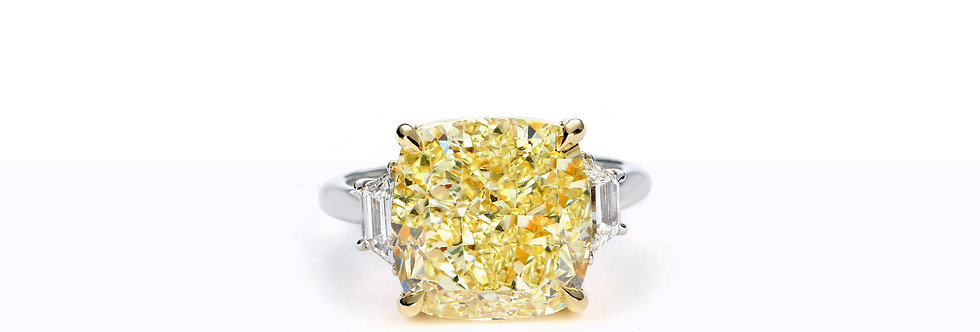 10.73ct Fancy Yellow, VS1