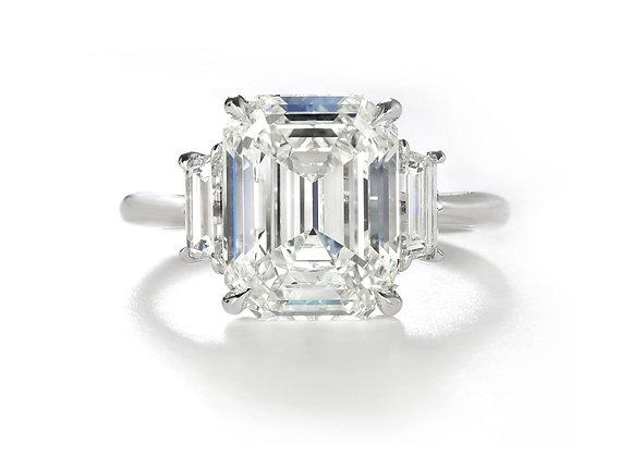 Premier Three Stone Emerald