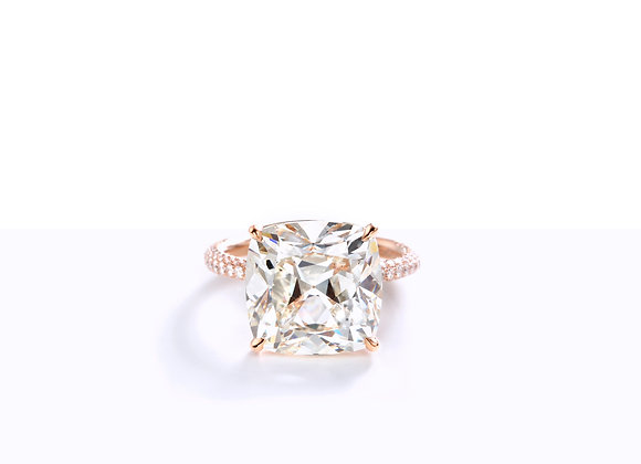 10.11ct Cushion J, SI1