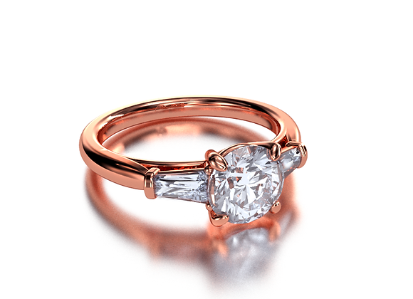 Round With Trapezoids (Rose Gold)