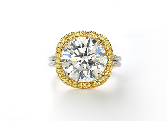 Round Forevermark Exceptional Yellow Halo