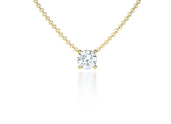 Classic Diamond Pendant (Yellow Gold)