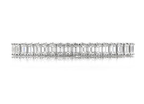 30ct tw Emerald Diamond Tennis Bracelet