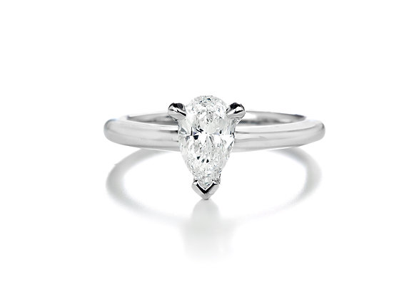 Pear Diamond Solitaire